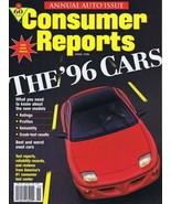 ORIGINAL Vintage 1996 Consumer Reports Magazine Cars Issue - $14.84