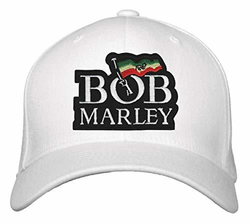 Bob Marley Hat - Adjustable Cap (White)