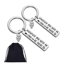 Owl Keychain Best Friend Gifts Keychain-2Pack Friendship Keychain Whenev... - $9.26