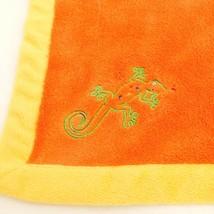 Blankets & Beyond Lizard Lovey Orange Yellow Baby Boy Security Blanket P... - $19.66