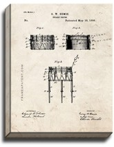 Snare Drum Patent Print Old Look on Canvas - $69.95
