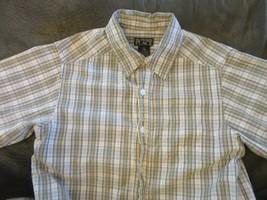 Boys Short Sleeve Button Down Childrens Place Dress Shirt Striped Size M 7/8 - $7.99