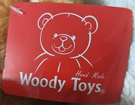 Woody Toys 76229S 10 Inch Burnt Orange Bear With A Paw Print Bow image 6