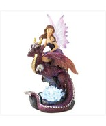 DRAGON RIDER Fairy Maiden Figurine Color Changing LED Light Statue - $19.36
