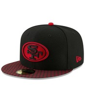 New Era San Francisco 49ers 59Fifty Sideline Fitted Hat Black/Red Size 7 1/4 - $36.99