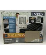 """Intex Dura-Bean Plus Pillow Rest Raised Airbed Internal Pump 16.5"""" Twin AP619C - $44.54"""