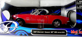 Maisto 1:18 1967 Chevy Chevrolet Camaro SS 396 diecast model car red con... - $23.50
