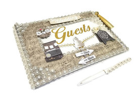 Our Wedding Guest Book With Pen Country Theme Keepsake Gift - $39.99