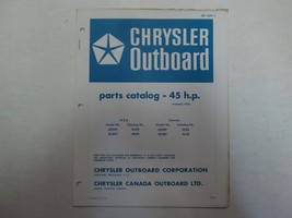 1972 Chrysler Outboard 45 HP Parts Catalog Manual Factory OEM OB 1691-1 *** - $9.89