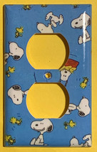 Peanuts Snoopy Woodstock Light Switch Power Outlet Wall Cover Plate Home Decor image 2