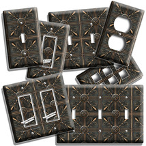 MEDIEVAL FLEUR DE LIS COPPER TILE LOOK LIGHT SWITCH OUTLET WALL PLATE RO... - $8.99+
