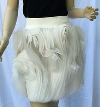 Ralph Lauren Purple Label Collection Chiffon Ruffle Silk Skirt 8 White New - $594.67
