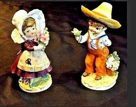 Boy and Girl KW7535 AA18-1189  2 Lefton Vintage Figurines image 1