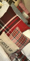 Pottery Barn Mckinley Pillow Cover Red Black 24 sq Plaid Buffalo Check New - $46.16