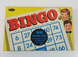 WHITMAN Bingo Game #4409 USA 20 card set checking chart included Vintage 1958 - $18.69