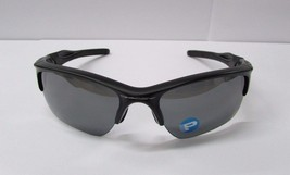 Oakley Men's Polarized Half Jacket OO9154-46 Black Semi-Rimless Sunglass... - £88.59 GBP