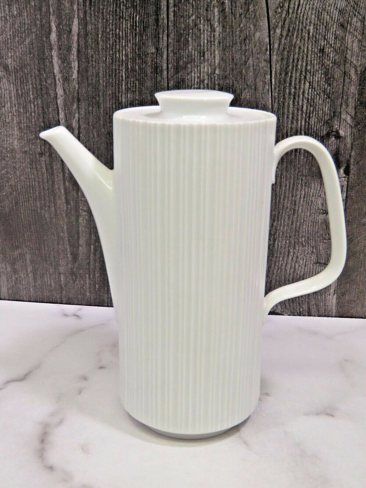 Primary image for Rosenthal Variations Tall Coffee Pot White Ribbed MCM