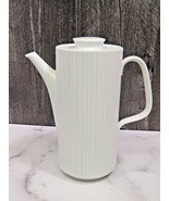 Rosenthal Variations Tall Coffee Pot White Ribbed MCM - $39.60