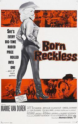 Primary image for Born Reckless - 1958 - Movie Poster