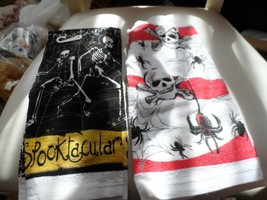 set of 2 Halloween theme kitchen towels from Essential Home - $8.50