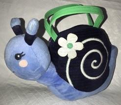 "GYMBOREE Cutie Blue Green Snail Purse Plush pocketbook 9"" Girls' Bag - $13.99"