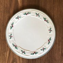Longaberger Pottery Traditional Hot Plate Trivet Christmas Holly #31941 - $12.57