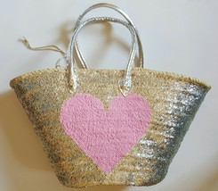 Sale Basket sequined with hot pink heart