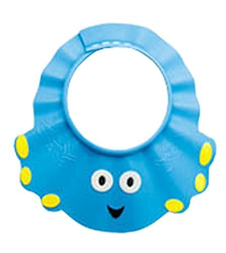 The Creative Cartoon Children's Bath Cap/Shower Hat Can be Adjusted Blue