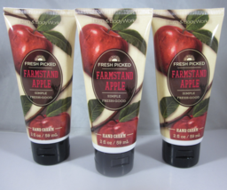 3 Bath & Body Works Hand Cream 2 oz  shea butter vit e  Farmstand Apple - $39.99