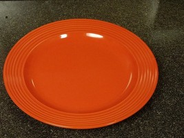 ROYAL NORFOLK Classic Orange Dinner Plate Microwave and Dishwasher Safe - $13.00