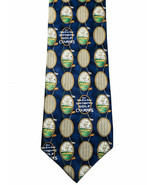 HALLMARK GOLF TIE ON THE 8TH DAY GOD CREATED GOLF COURSES SHOEBOX SILK - $7.87