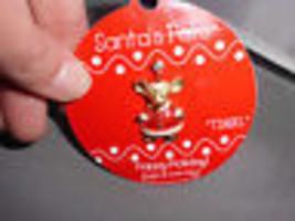 Santa's Pets Tinsel The Mouse Gold Tone Enamel Gigi Accessories Louis Gi... - $5.94