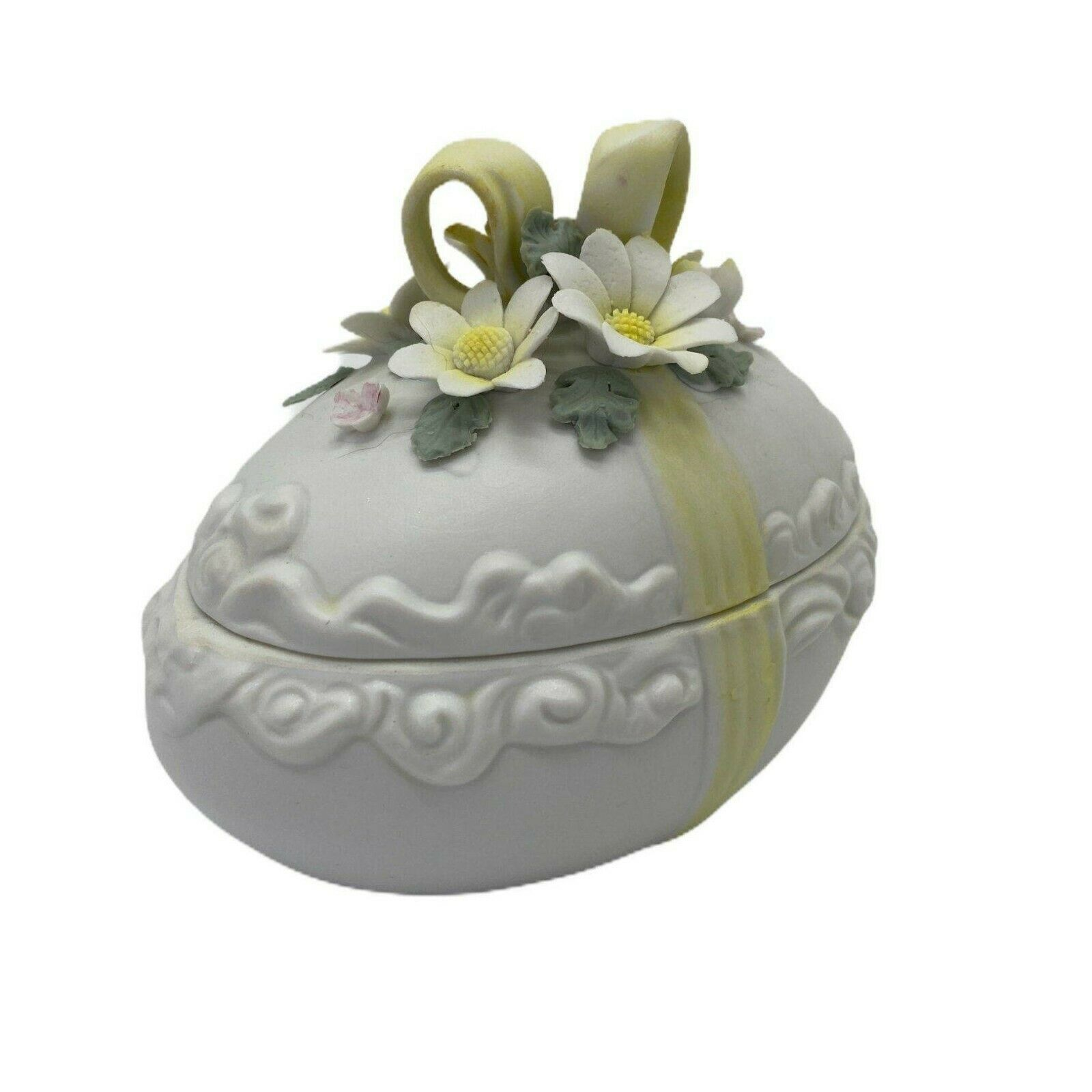 Easter Egg Vintage Lefton 1691 Decorative Trinket Box with Lid - $20.00