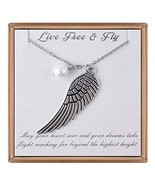 IEFLIFE Graduation Gifts for Her - Guardian Angel Wing Necklace New Begi... - $17.80