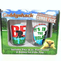 Caddyshack 2 Pint Glasses and Ice Cube Tray Combo Be The Ball Its In The... - $19.79