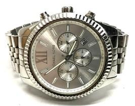 Michael Kors MK8405 Mens Watch Lexington Quartz Silver Chronograph Dial NEW - $159.00