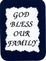 """God Bless Our Family 3"""" x 4"""" Love Note Inspirational Sayings Pocket Card, Greeti - $2.69"""