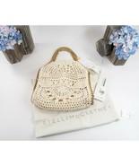 Stella McCartney Ivory Crochet Mini Fallabella Fold Over Shoulder Bag NWT - $964.76