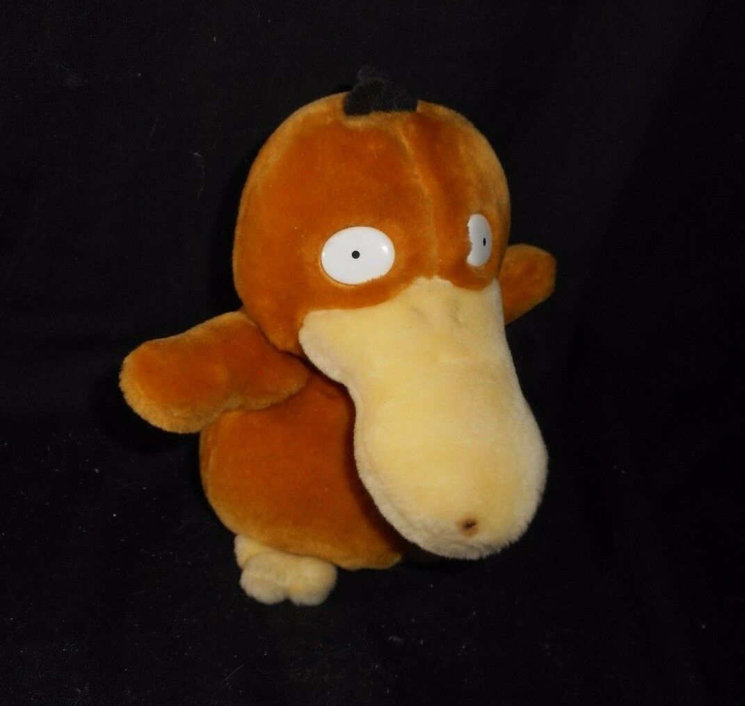 "6"" VINTAGE 1998 POKEMON PSYDUCK YELLOW DUCK NINTENDO STUFFED ANIMAL PLUSH TOY - $13.33"