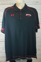 Under Armour SMU Mustangs Heat Gear Loose Black 3 Button Team Polo Large $64.99 - $35.09