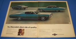 1968 Chevrolet Impala ~ 2 Page Original Print Ad  ~ Chevy Car Auto - $6.18