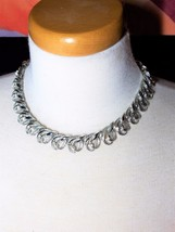Gorgeous Silver Tone Vintage Necklace Possibly Coro clasp - $32.39