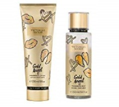 2 Piece Victoria's Secret Gold Angel Set Fragrance Lotion  Mist Mandarin Coconut - $28.99