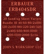 ERBAUER ERB404SDR - 17 Different Grits - 20 Sheet Variety Bundle III - $18.97