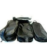Lot of 4 Toiletry Bags New, unused 3 black(2 compartment) 1 silver with ... - $11.63