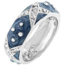 Marbled Blue Enamel Ring - $22.00