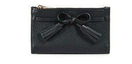 Nwt Kate Spade Hayes Wristlet Leather Pouch Wallet Black WLRU5249 $118 Gift Rcpt - $48.51