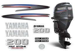 Yamaha 200 4 Stroke HP Decal Kit Outboard Engine Graphic 200hp Sticker USA MADE - $74.20
