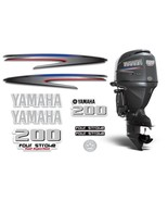 Yamaha 200 4 Stroke HP Decal Kit Outboard Engine Graphic 200hp Sticker U... - $74.20