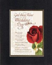 God Bless your Wedding Day. 8 x 10 Inches Biblical/Religious Verses set ... - $11.14